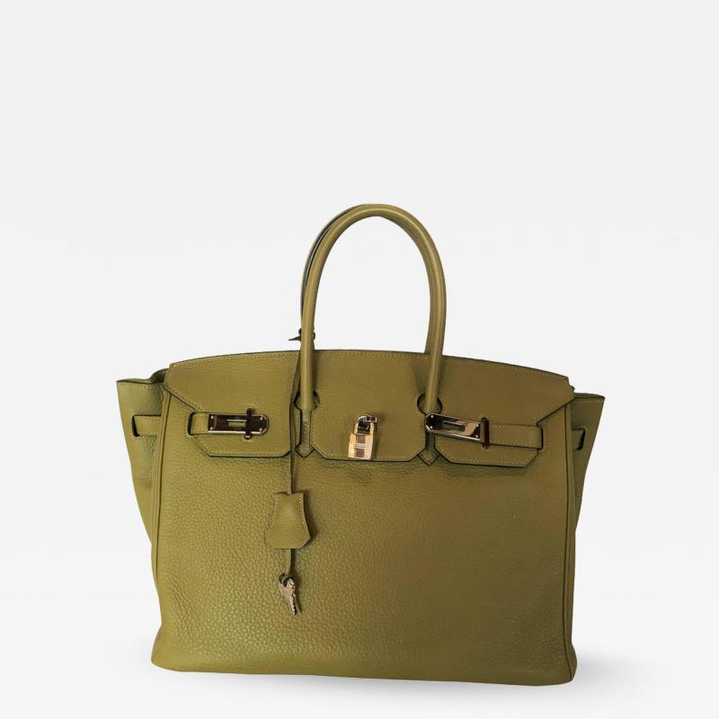 Herm s Hermes Birkin 35 Sauge Clemence Hand Bag 2007