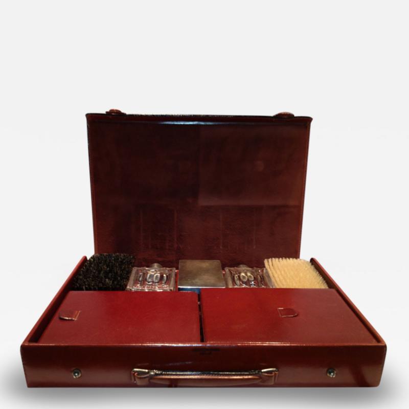 Herm s Hermes Mens Leather Deco Travel Case