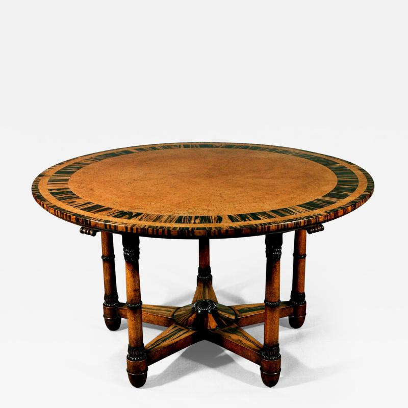 Holland Sons Antique Important English Regency Period Amboyna Wood Center Table