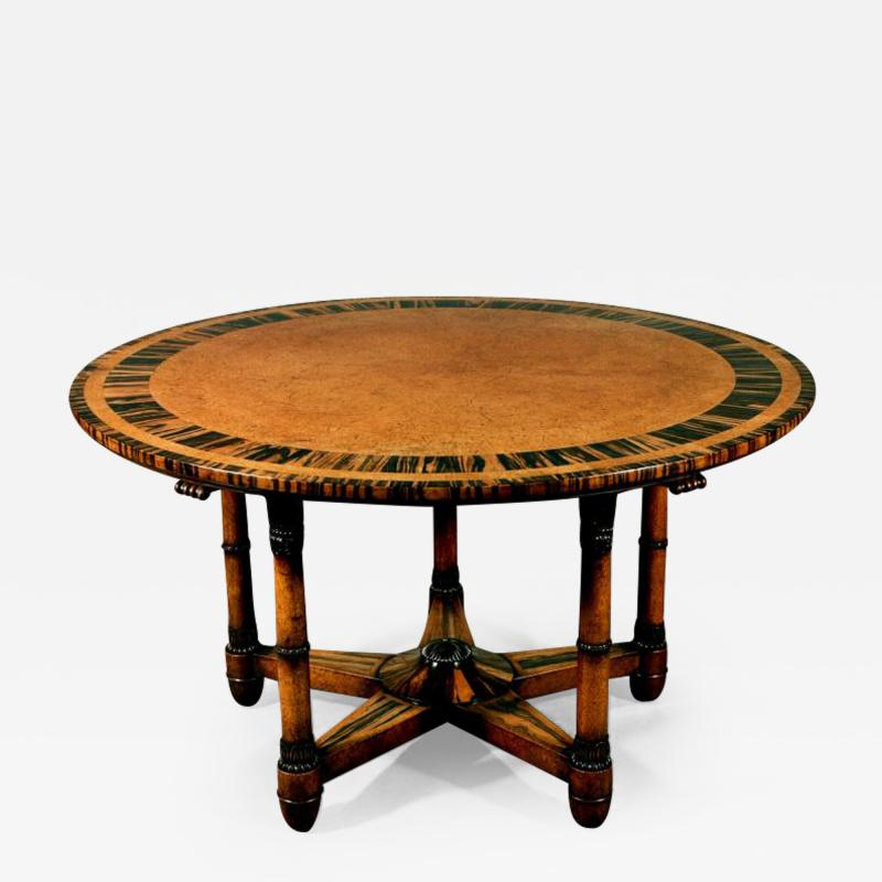 Holland Sons Rare and Important Pure Regency Period Amboyn Library Centre Center Table