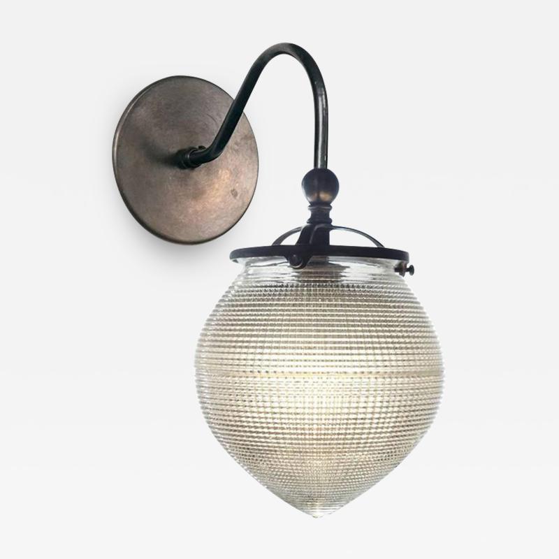Holophane 1920s Acorn Prismatic Sconces
