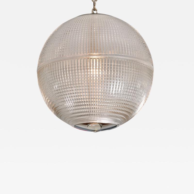 Holophane 1960s US Holophane ball ceiling pendant