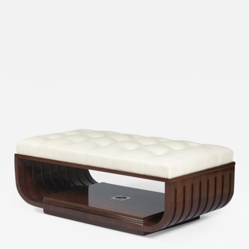 ILIAD Bespoke A Modernist style Upholstered Ottoman by ILIAD Design