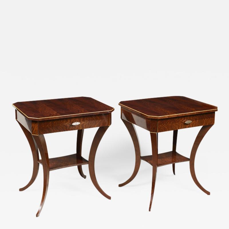 ILIAD Bespoke Pair of Biedermeier Style Side Tables