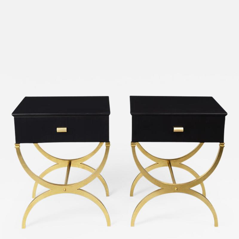 ILIAD Bespoke Pair of Modernist End Tables inspired by Maison Ramsay