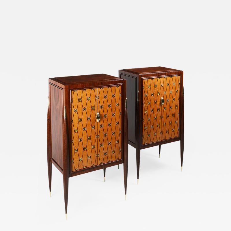 ILIAD Bespoke Pair of Ruhlmann inspired Cabinets