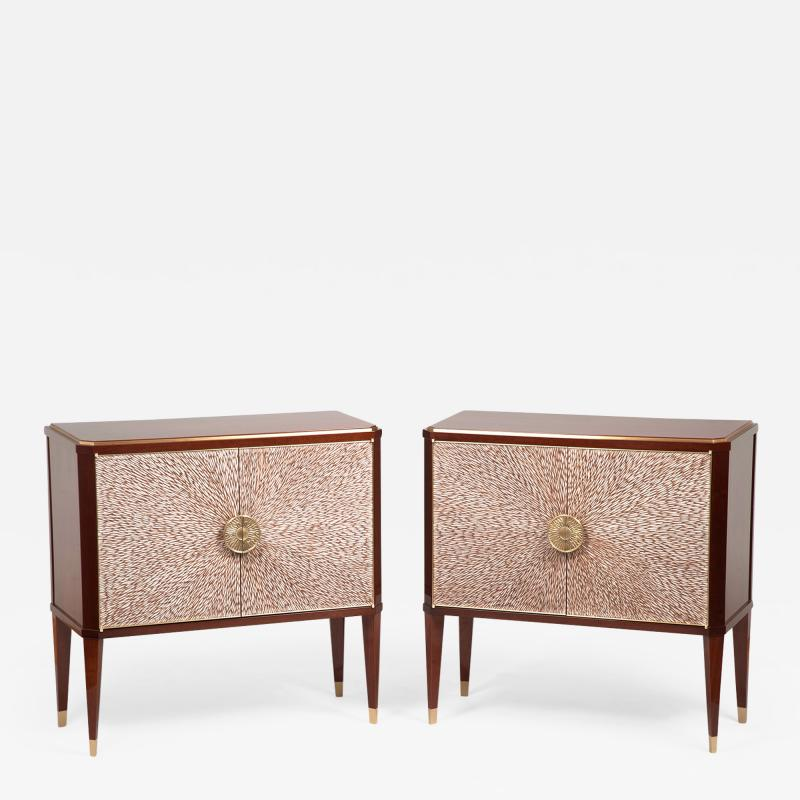 ILIAD DESIGN A Pair of Modernist Cabinets by ILIAD Design