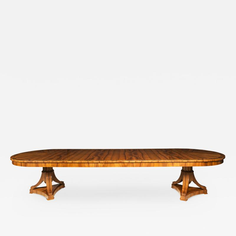 ILIAD DESIGN Biedermeier Inspired Double Pedestal Extendable Dining Table by ILIAD Design