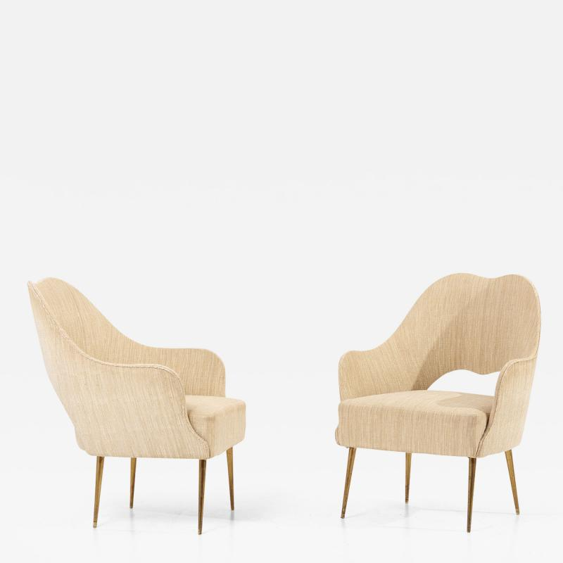 ISA Bergamo I S A Italy Pair of Lounge Chairs by ISA Bergamo Italy 1950s