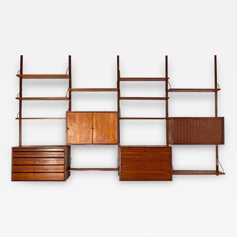 ISA Bergamo I S A Italy Wall teak bookcase by ISA Bergamo 1960s