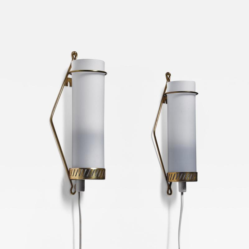 Idman Oy Maria Lindeman pair of wall lamps for Idman Finland 1950s