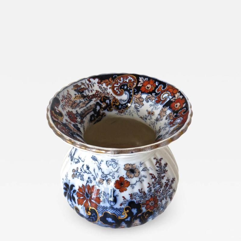 Imari Victorian Porcelain Spittoon Circa 1880 by Imari Japan