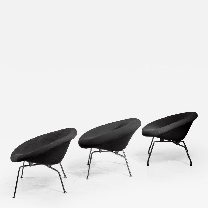 Ing J G Athmer Set of 3 prototype chairs by Dutch architect Ing J G Athmer