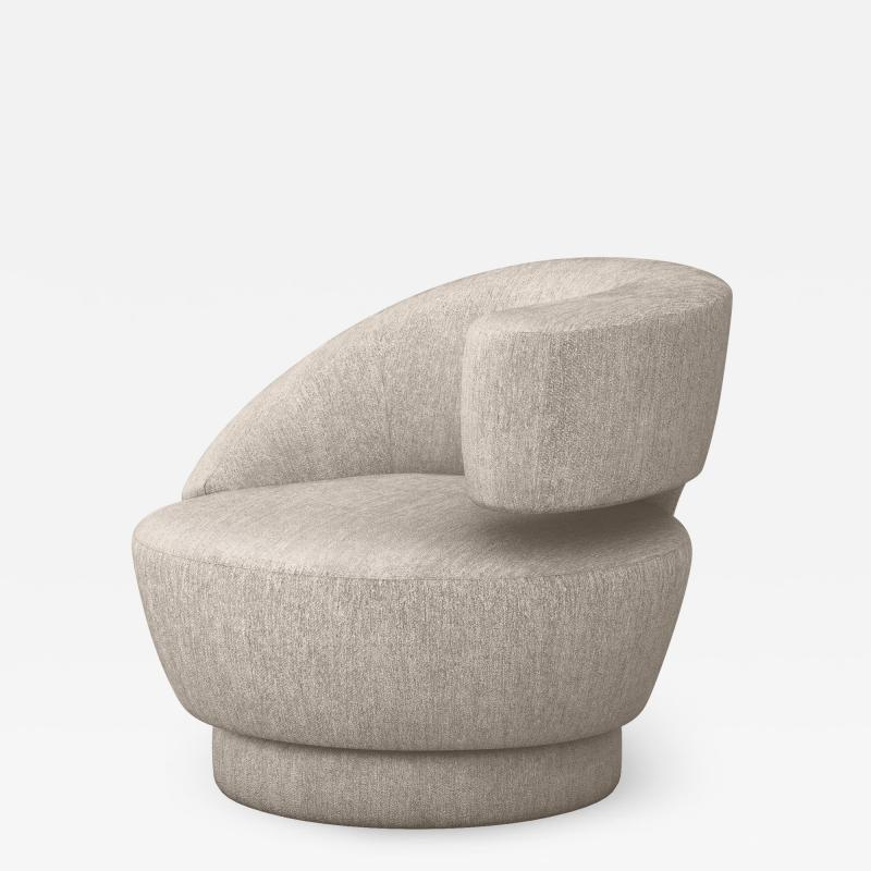 Interlude Home Arabella Swivel Right Chair Bungalow