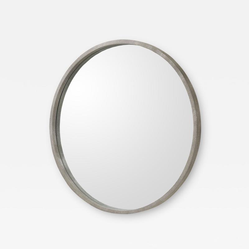 Interlude Home Como Grand Mirror Grey Shagreen