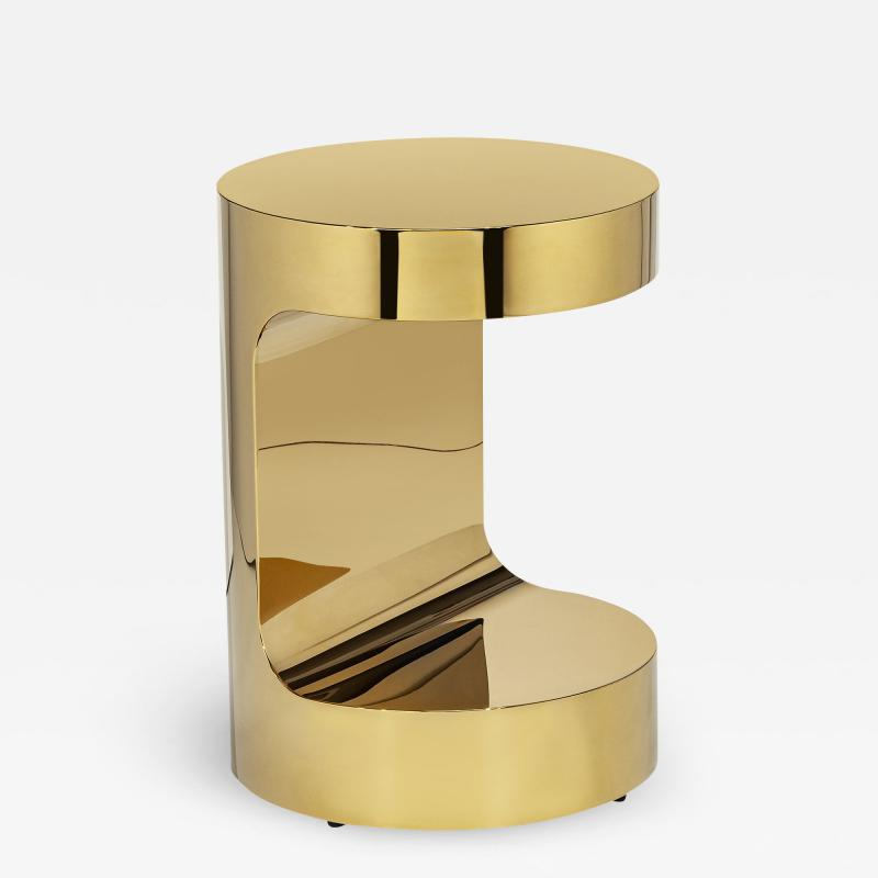 Interlude Home Dorset Round Hugging Table Brass