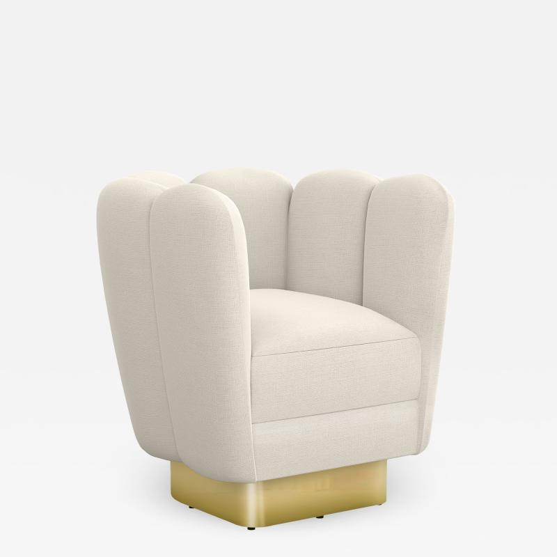 Interlude Home Gallery Swivel Brass Pearl