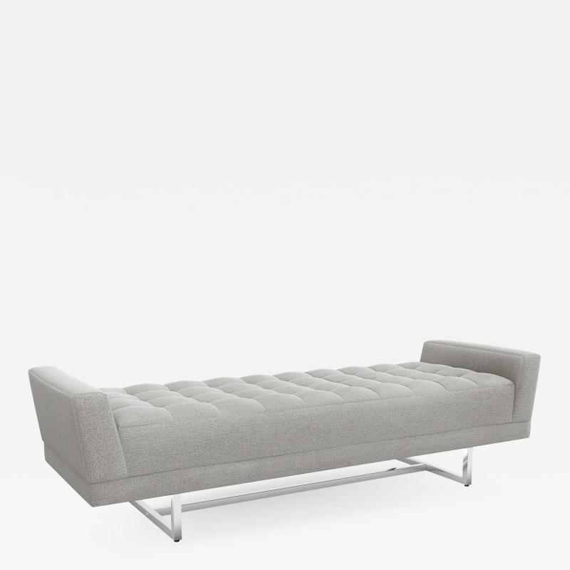 Interlude Home Luca King Bench Grey