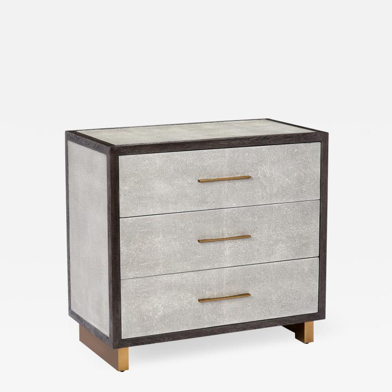 Interlude Home Maia 3 Drawer Chest Grey