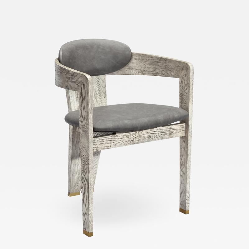 Interlude Home Maryl Dining Chair Light Grey