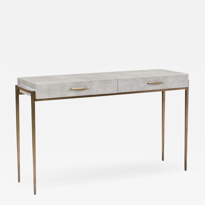 Interlude Home Morand Desk Console Grey