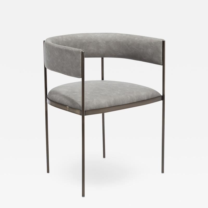 Interlude Home Ryland Dining Chair Charcoal