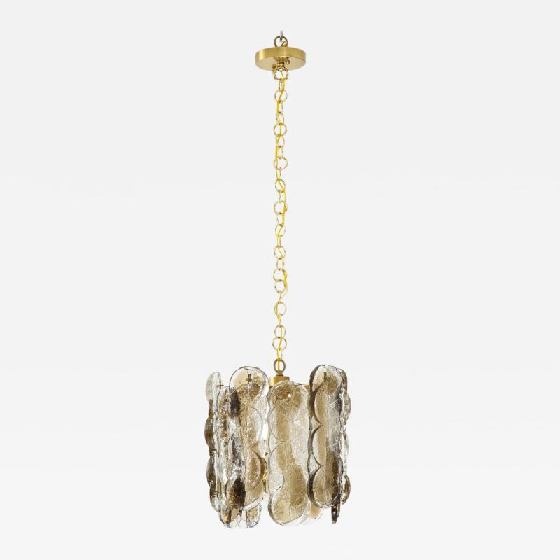 J T Kalmar Kalmar Lighting Kalmar Clear Amber Glass Chandelier