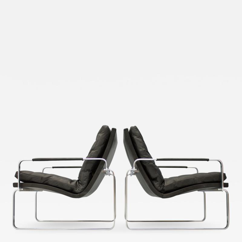 J rgen Lund Ole Larsen Pair of Danish Lounge Chairs by J rgen Lund Ole Larsen for Bo Ex