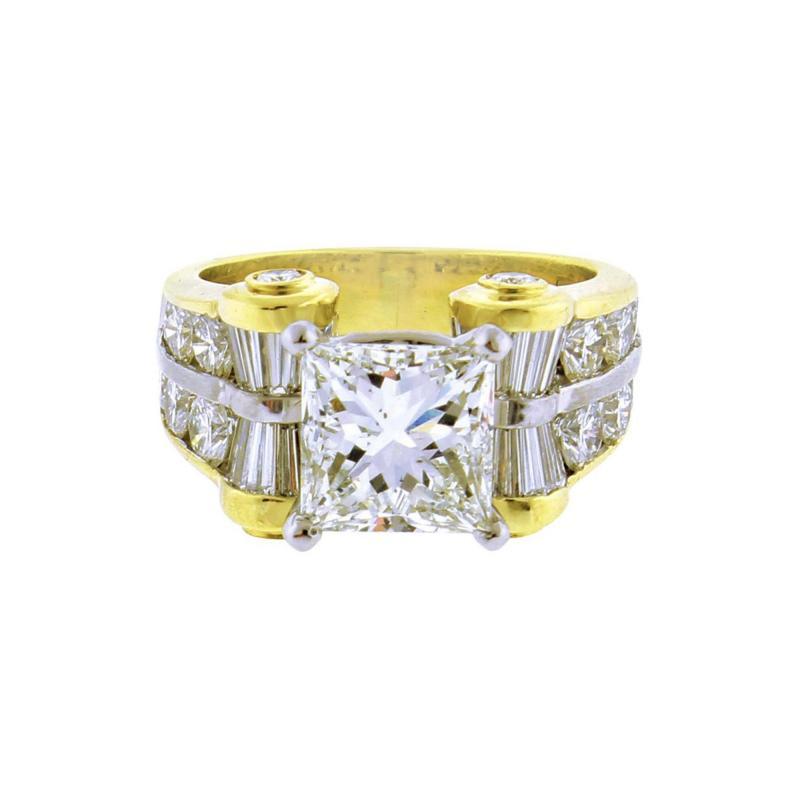JB Star JB Star GIA 3 Carat Princess Cut Diamond Ring