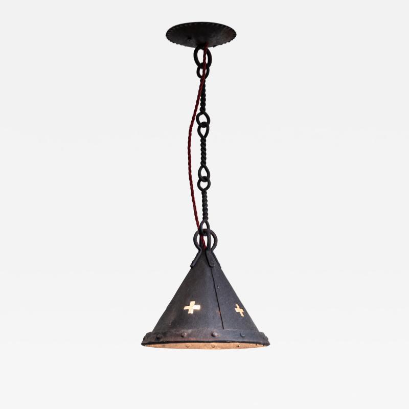 Jan Koldeweij Jan Koldeweij wrought iron pendant lamp