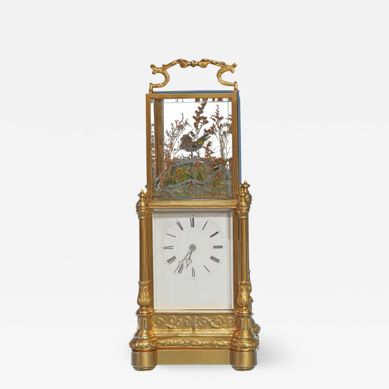Japy Freres c 1870 Rare Automated Singing Bird Carriage Clock