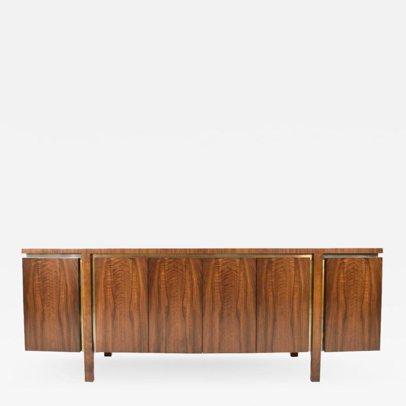 John Widdicomb Co Widdicomb Furniture Co Widdicomb Credenza or Sideboard in Walnut with Parquet Patterned Top