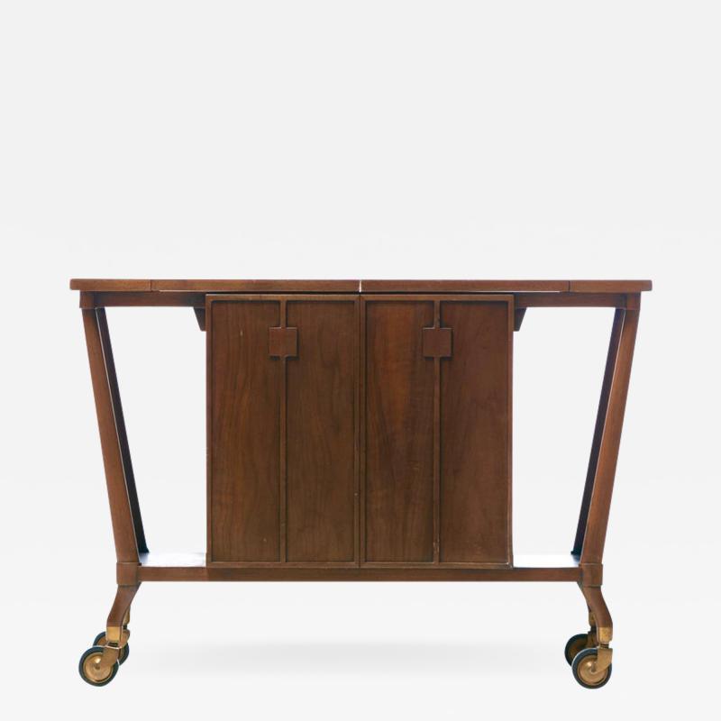 Johnson Furniture Bert England Forward Trend Mid Century Bar Cart for Johnson Furniture c 1960