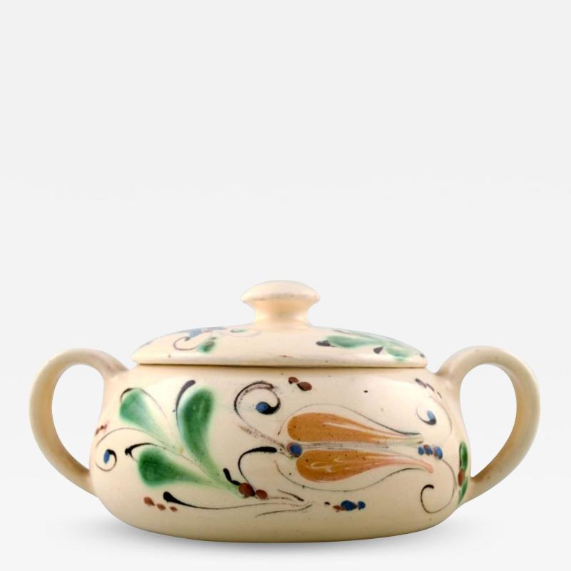 K hler Glazed lidded bowl with handles stoneware