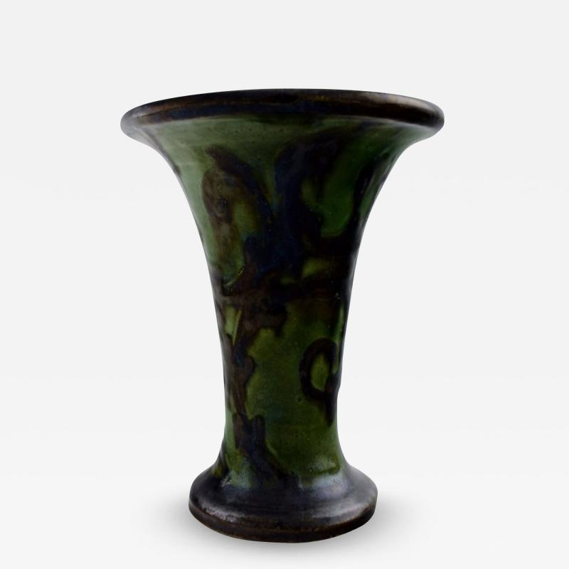 K hler Glazed stoneware vase trumpet shaped
