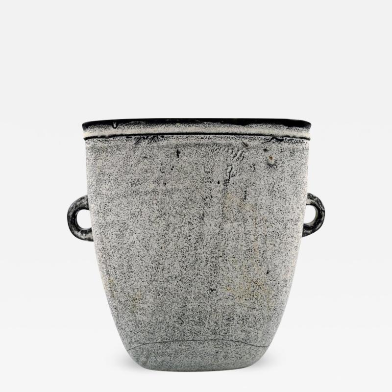 K hler K hler Denmark glazed large stoneware vase with handles