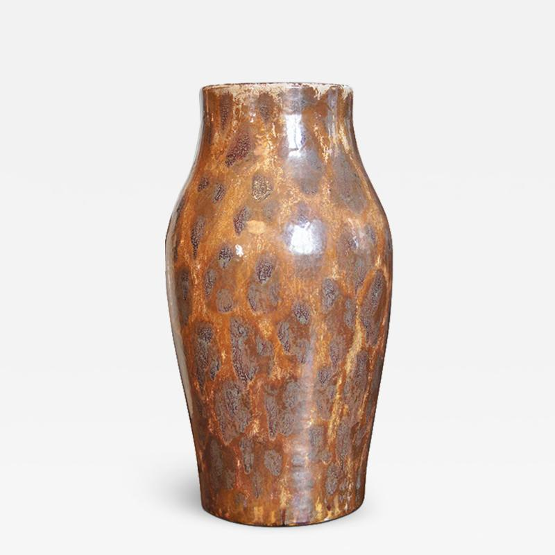 K hler Keramik Art Nouveau vase with luster leopard glazing by K hler Keramik