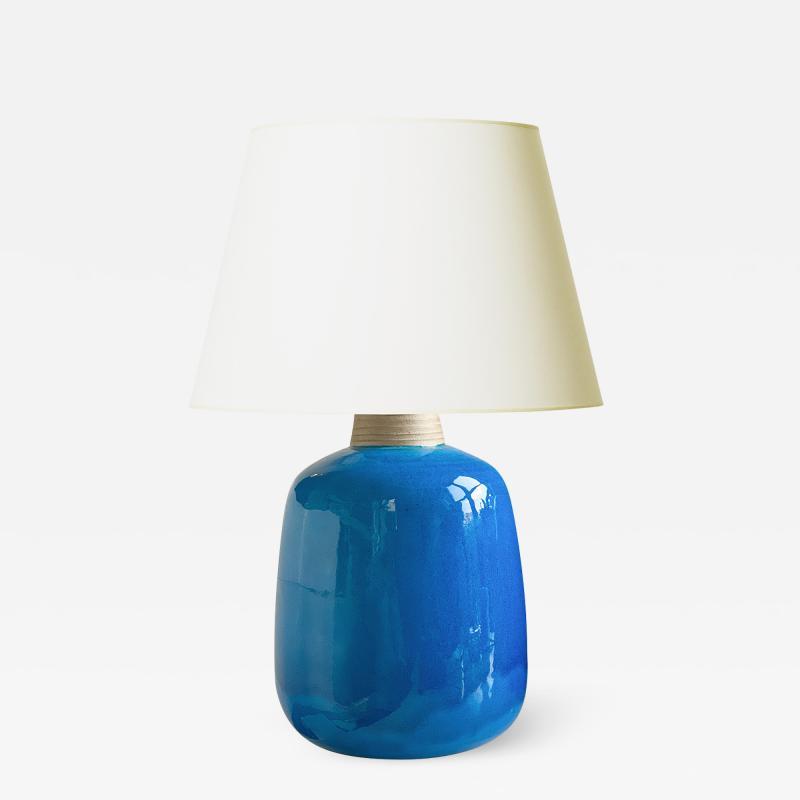 K hler Large Mod Lamp in Azure Glaze by Nils Kahler