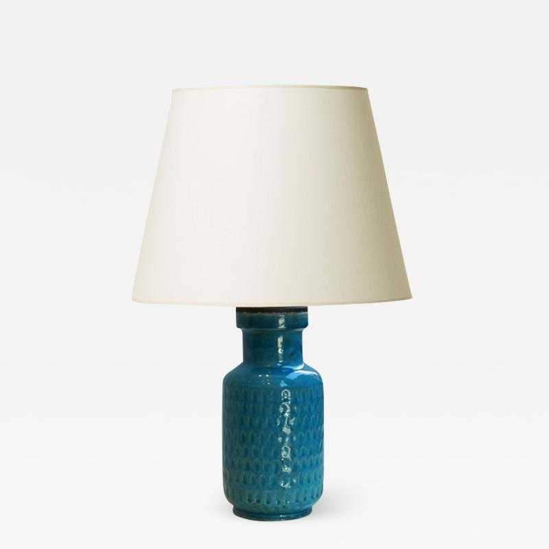 K hler Table lamp with rich turquoise glaze by K hler