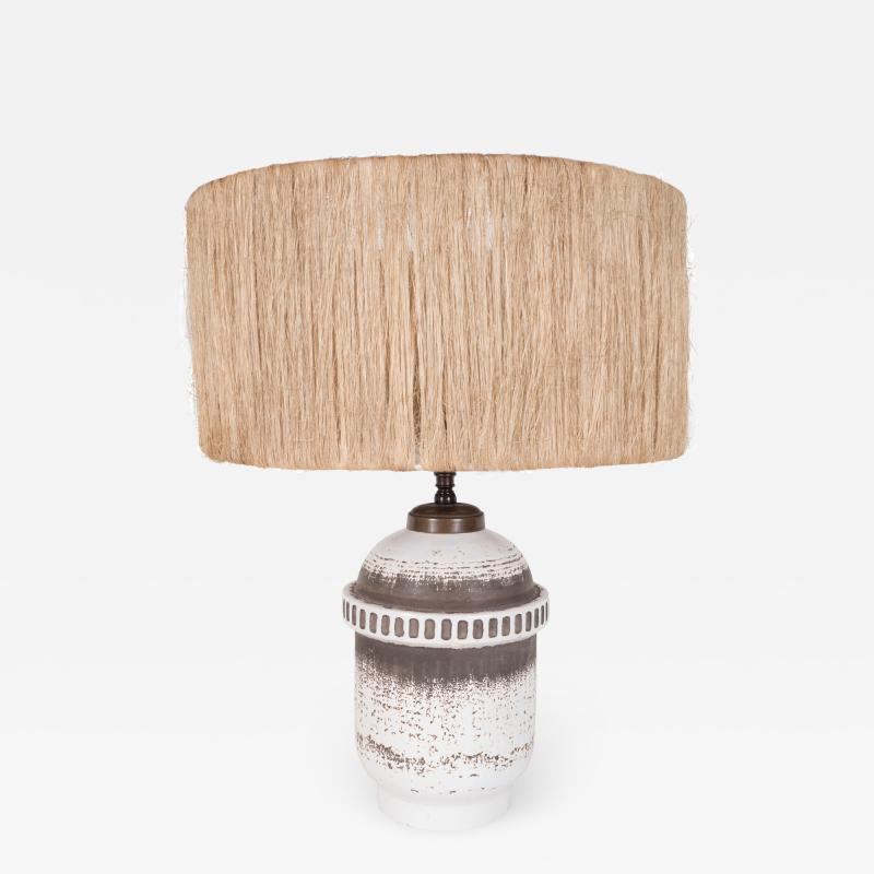 K ramos Keramos Ceramic lamp with twine shade