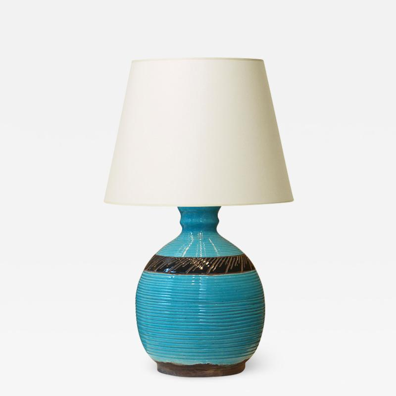 K ramos Monumental Table Lamp in Turquoise and black by K ramos