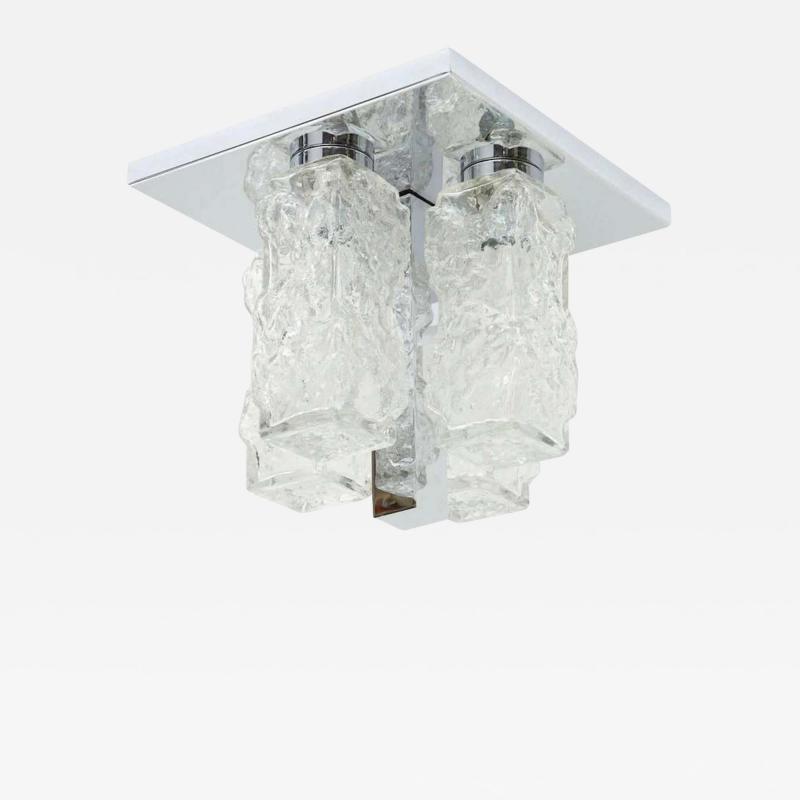 Kaiser Kaiser Ice Glass and Chrome Flush Mount 1 of 2