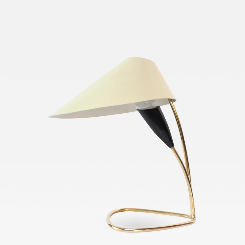 Kalmar Lighting 1950s Austrian Brass Lily Table Lamp Attributed to J T Kalmar