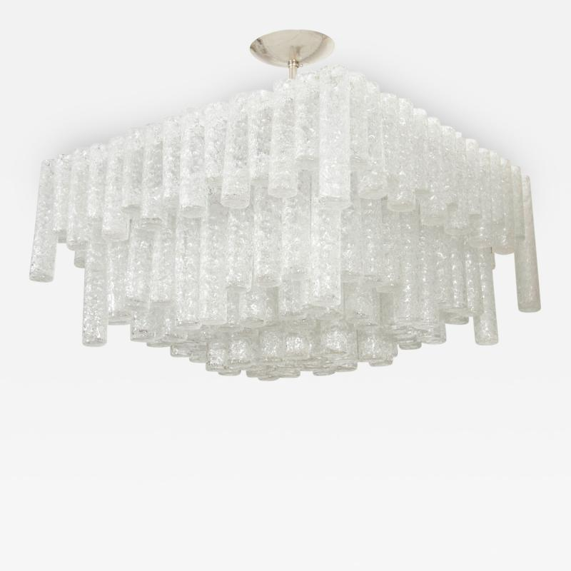 Kalmar Tiered Ice Inspired Glass Chandelier