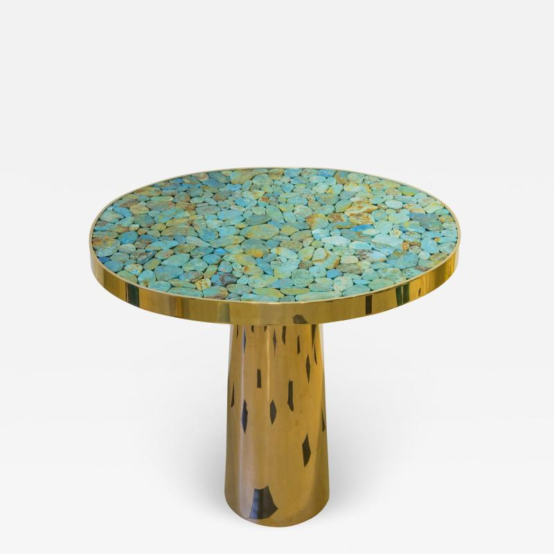 Kam Tin KAM TIN Turquoise tall side table