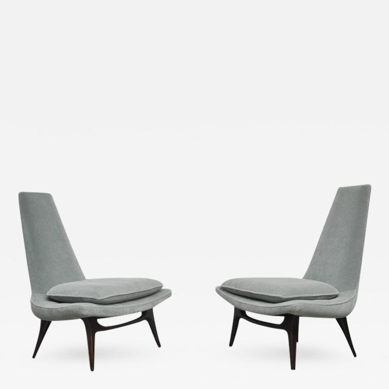 Karpen of California Karpen High Back Lounge Chairs