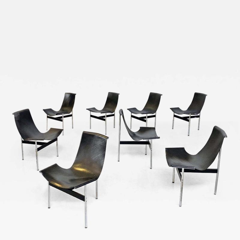 Katavolos Littel Kelly Set of T chairs by W Katavolos D Kelley and R Littell for Laverne 1952