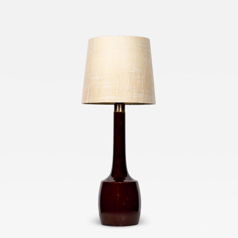 Knabstrup Danish ceramic lamp by knabstrup years 50 60 for Gorgeous Burgundy