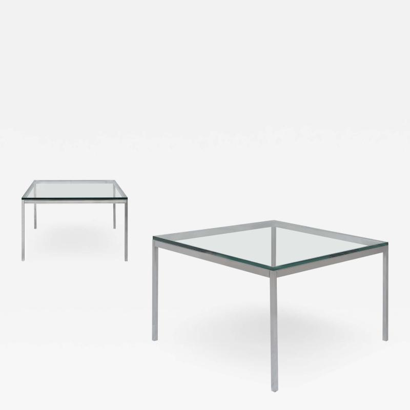 Knoll Florence Knoll Coffee End Tables in Glass Chrome by Florence Knoll for Knoll