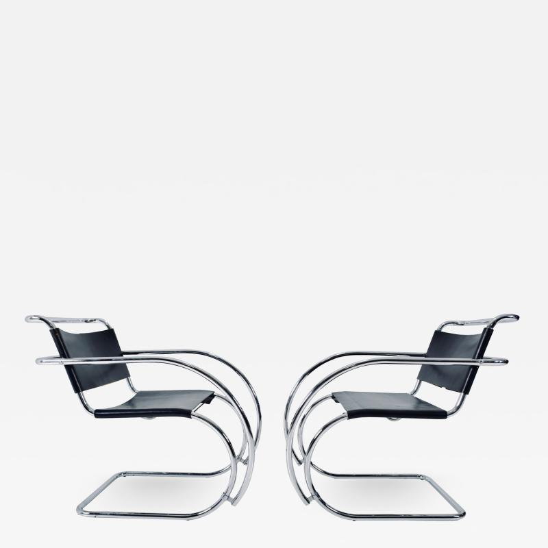 Knoll Mies van der Rohe MR20 Armchairs for Knoll